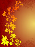 Autumn Leaf Border. Border of Leaves with Fall colors royalty free illustration
