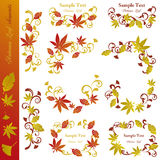 Autumn leaf elements set Stock Images