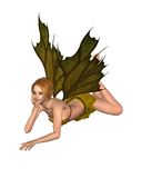 Autumn Leaf Fairy - lounging Royalty Free Stock Photo
