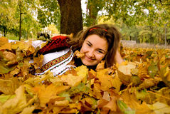 Autumn leaf fall Royalty Free Stock Photos