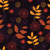 Autumn leaf fall. Bitmap seamless pattern with an additional vector file Stock Image
