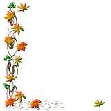 Autumn leaf frame vector illustration