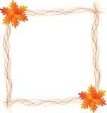 Autumn Leaf Frame Ilustração Stock