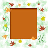 Autumn leaf frame vector illustration