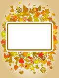 Autumn leaf frame with space for text Stock Photos
