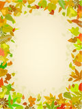 Autumn leaf frame with space for text Royalty Free Stock Photos