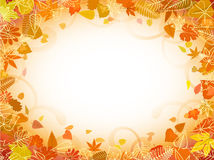 Autumn leaf frame with space for text Stock Photography