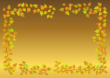 Autumn leaf frame. Vector. Royalty Free Stock Photo