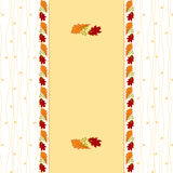 Autumn leaf greeting card. Abstract autumn leaf seamless pattern greeting card Stock Photo