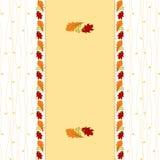 Autumn leaf greeting card Stock Photo