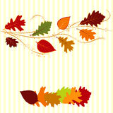Autumn leaf greeting card. Abstract autumn leaf greeting card Royalty Free Stock Image