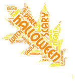 Autumn Leaf Halloween Word Tag Cloud Royalty Free Stock Image