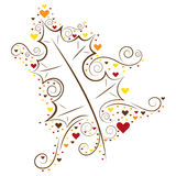 Autumn Leaf Love Royalty Free Stock Images