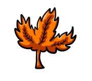 Autumn Leaf orange en épi mignon Illustration Libre de Droits