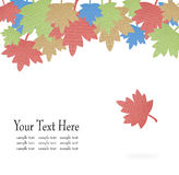Autumn Leaf Paper Background Stock Photography