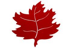 Autumn Leaf rojo Imagen de archivo