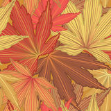 Autumn Leaf Seamless Background royalty free illustration