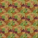 Autumn Leaf Seamless Background Pattern colorido Fotos de archivo