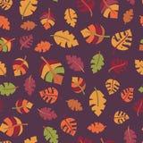 Autumn leaf seamless vector pattern. Fall design royalty free illustration