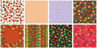 Autumn leaf set set seamless pattern Royalty Free Stock Photography