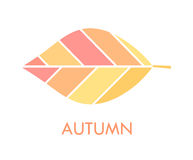 Autumn leaf symbol. Autumn leaf icon. Vector illustration Stock Photo