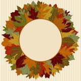 Autumn Leaf Wreath. Wreath made up of autumn leaves Royalty Free Illustration