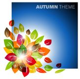 Autumn leafs background. Autumn leafs abstract background with place for your text Royalty Free Stock Photography