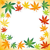 Autumn leafs border Royalty Free Stock Images