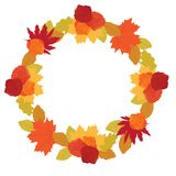 Autumn leafs. Colorful autumn leafs and roses vector illustration