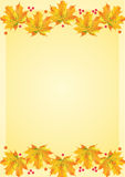 Autumn leafs template Royalty Free Stock Images