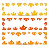 Autumn leafy frames Royalty Free Stock Photography