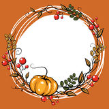 Autumn Leave Decoration stock illustrationer