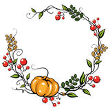 Autumn Leave Decoration. Halloween or thanksgiving card Stock Photography