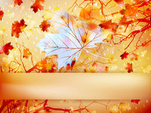 Autumn leave made of triangles. EPS 10 Royalty Free Stock Photo