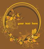 Autumn leaves. Decorative elements Royalty Free Stock Images
