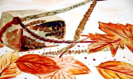 Autumn Leaves. An Artist View of Autumn Leaves Stock Photography