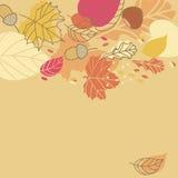 Autumn Leaves. Rectangular card of Autumn Leaves Stock Image