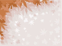 Autumn leaves. Background with autumn leaves in the fog Royalty Free Stock Photography