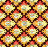 Autumn Leaves Abstract Pattern Illustration Stock