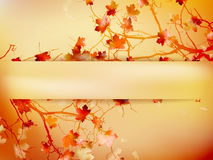 Autumn with leaves Back to school. EPS 10 Royalty Free Stock Photos