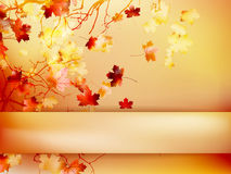 Autumn with leaves Back to school. EPS 10 Royalty Free Stock Image