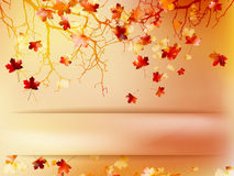 Autumn with leaves Back to school. EPS 10 Stock Photo