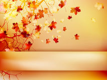Autumn with leaves Back to school. EPS 10 Royalty Free Stock Images