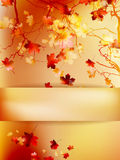 Autumn with leaves Back to school. EPS 10 Stock Photos