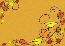 Autumn leaves background. Vector autumn leaves background. Easy to edit Stock Photo