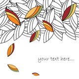 Autumn leaves background. Stylized autumn leaves background with space for your text.EPS file available Royalty Free Stock Images