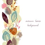 Autumn leaves background. Seamless pattern with leaves in autumn colors Royalty Free Stock Photo