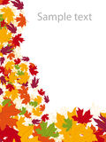 Autumn-leaves background. Background with autumn theme – vector illustration Stock Photo