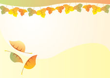 Autumn leaves background. A vector illustration of autumn background Royalty Free Stock Photos