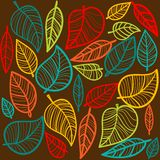 Autumn leaves background. Vector illustration Stock Photography